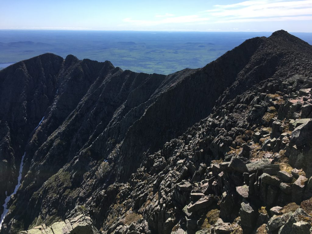 View of Knife Edge from Katahdin Peak