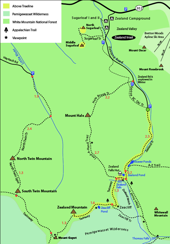 Trail Map Zealand Mountain Courtesy