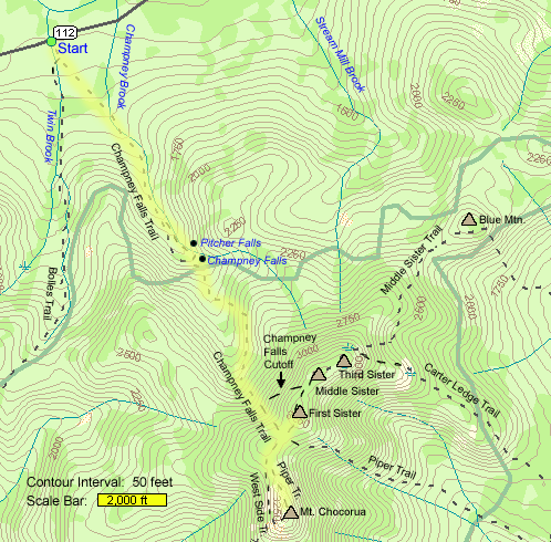 Mount Chocorua Trail Map