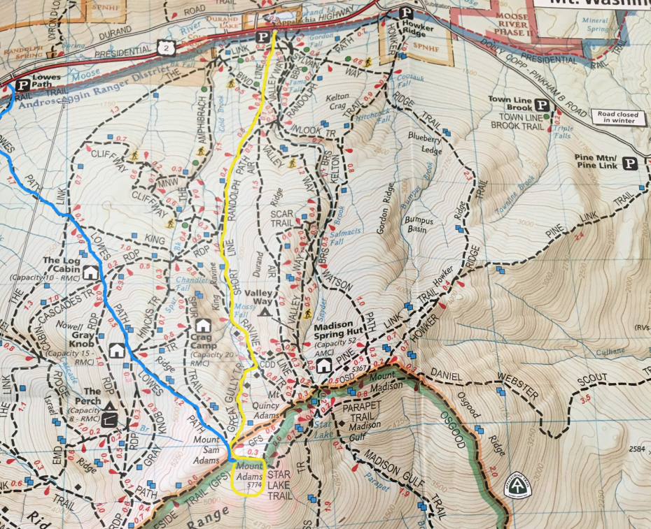Mount Adams Trail Map