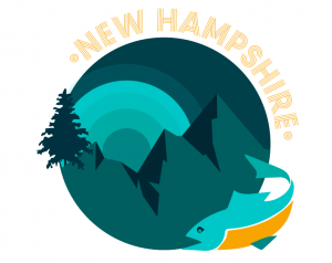 New Hampshire Mountains and Fish Design