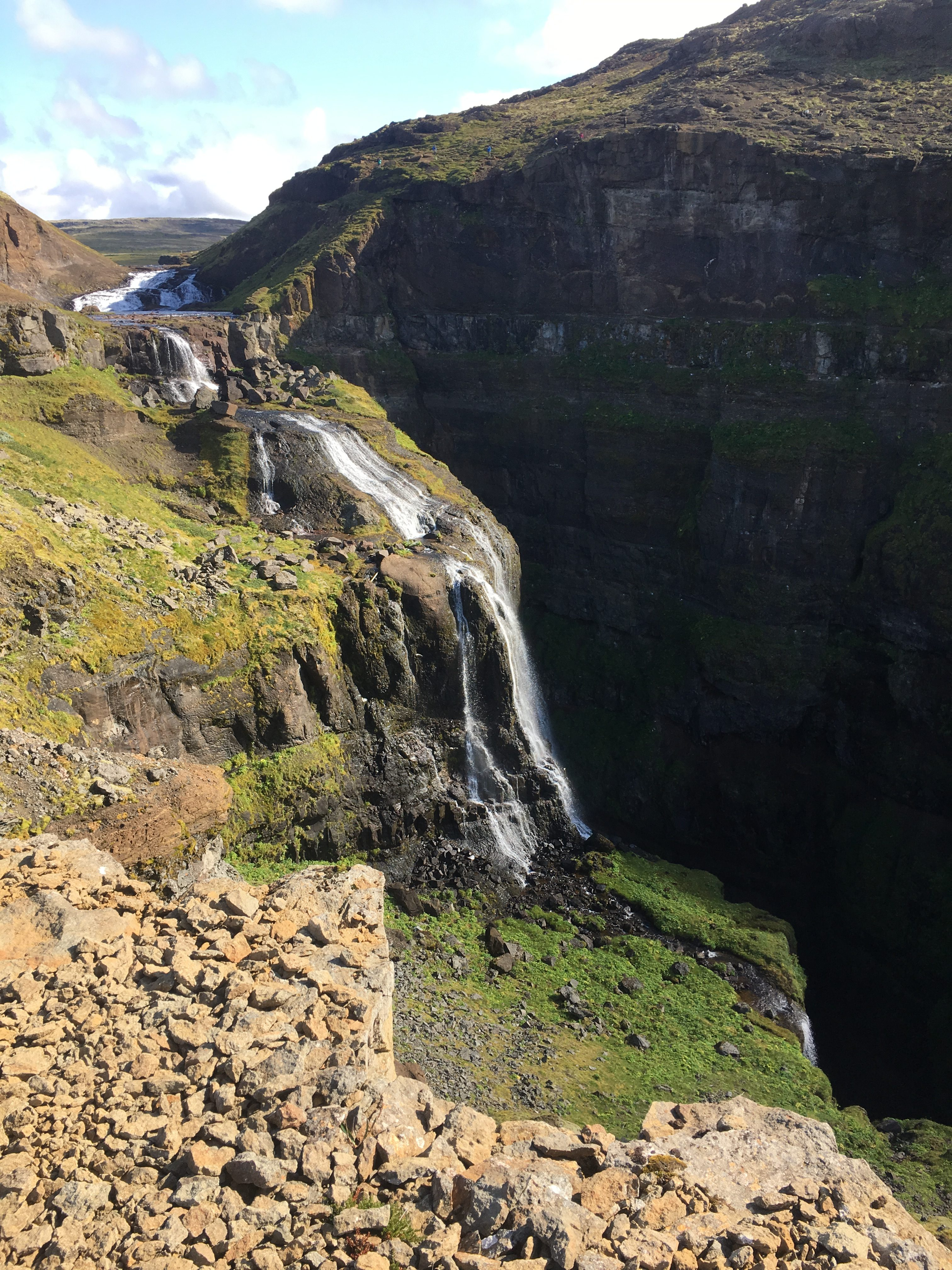 Upper Glymur Falls From North Side of Trail