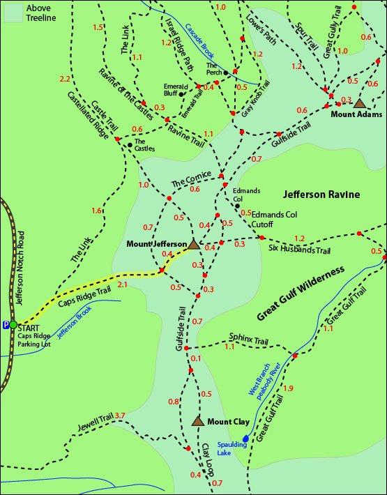 Mount Jefferson Trail Map