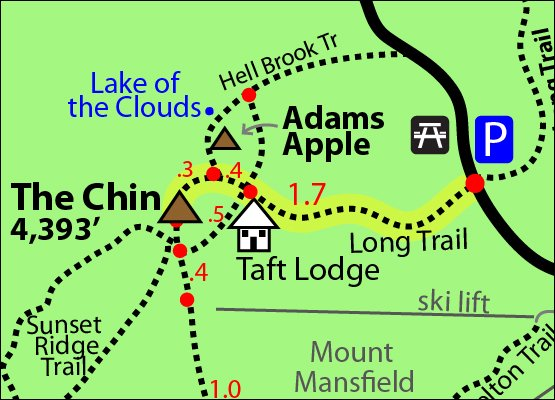 Mount Mansfield Trail Map