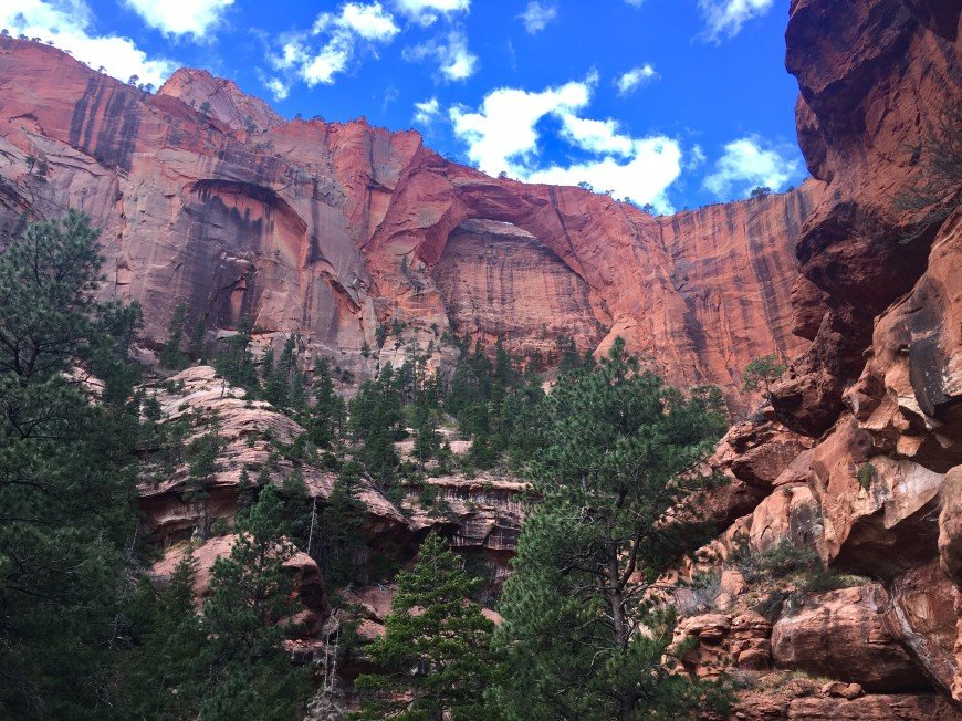 Kolob Arch In Zion National Park