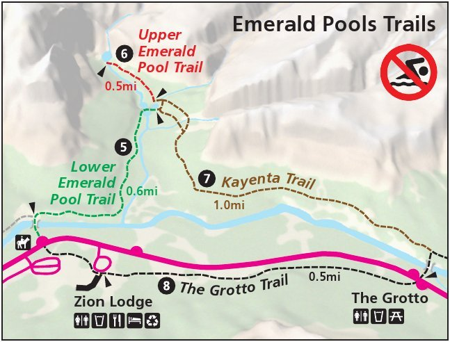Emerald Pool Trail Map