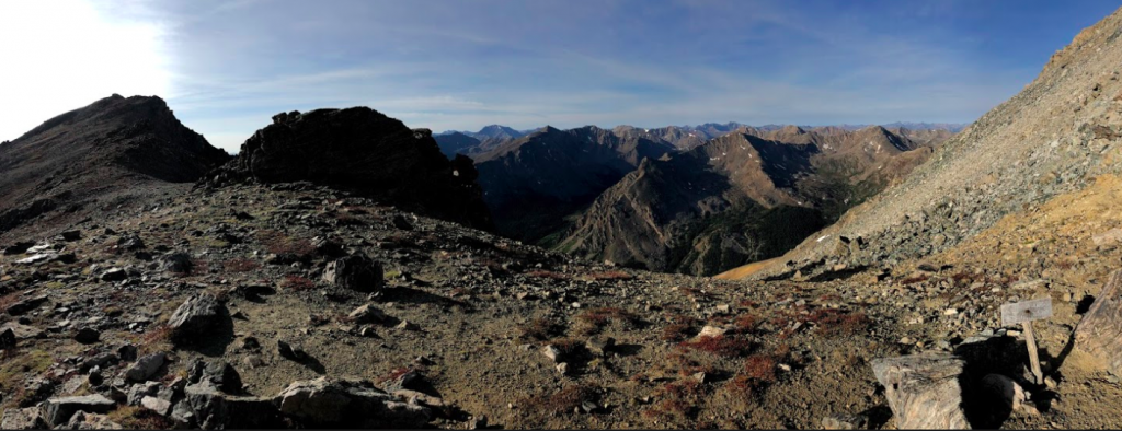 Pano In Saddle Between Mount Massive and South Massive