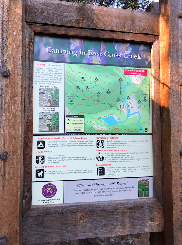 Mount of The Holy Cross Trailhead Sign 2