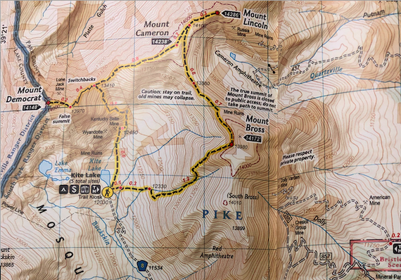 Mount Democrat Trail Map