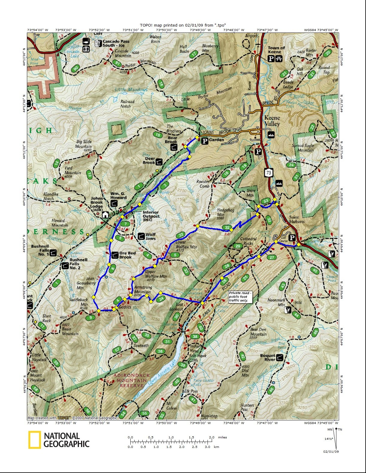 Gothics Mountain Hiking Trail Guide: Map, Trail Descriptions, Pictures & More