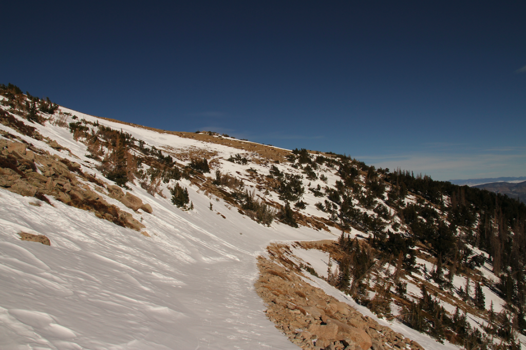Looking Back At Where Hikers Need to Turn Right to Ascend Towards Mount Princeton Instead of Continuing On The Road