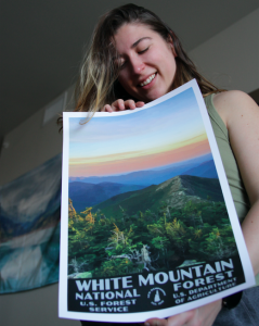 White Mountains Poster In Hand