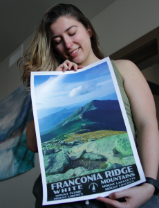 Franconia Ridge Poster In Hand
