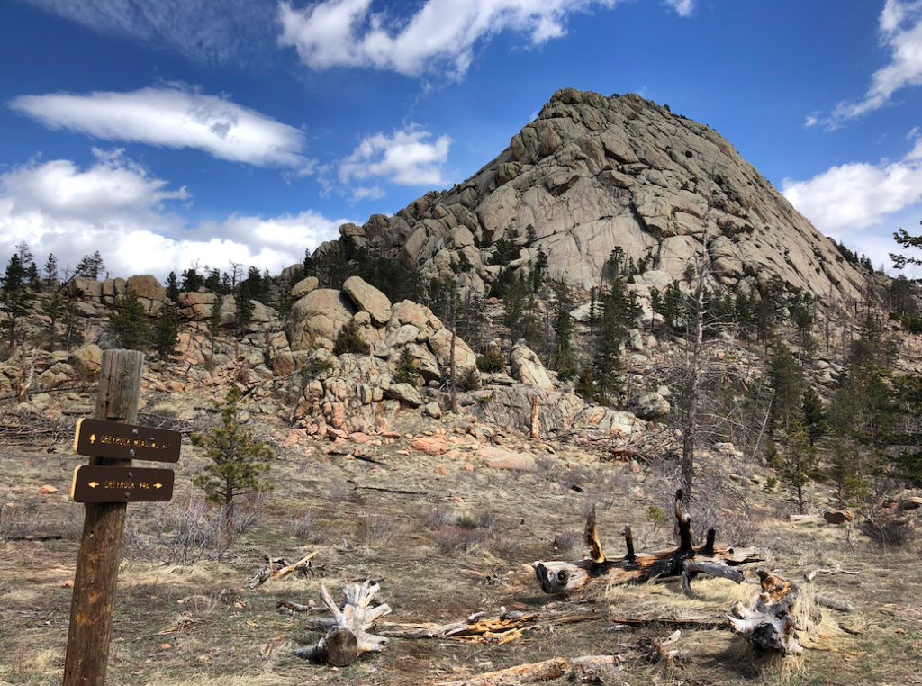 Greyrock Summit from Trail Junction