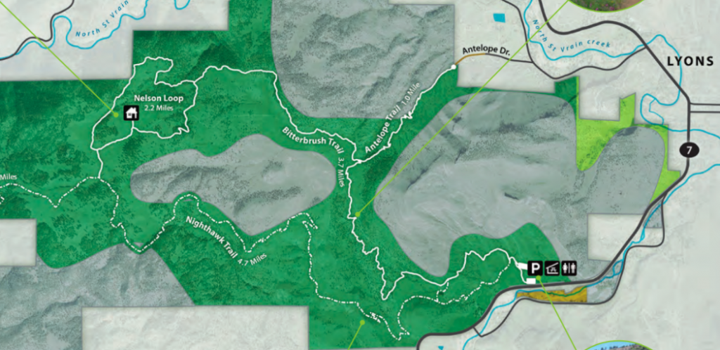 Hall Ranch Open Space Trail-Map