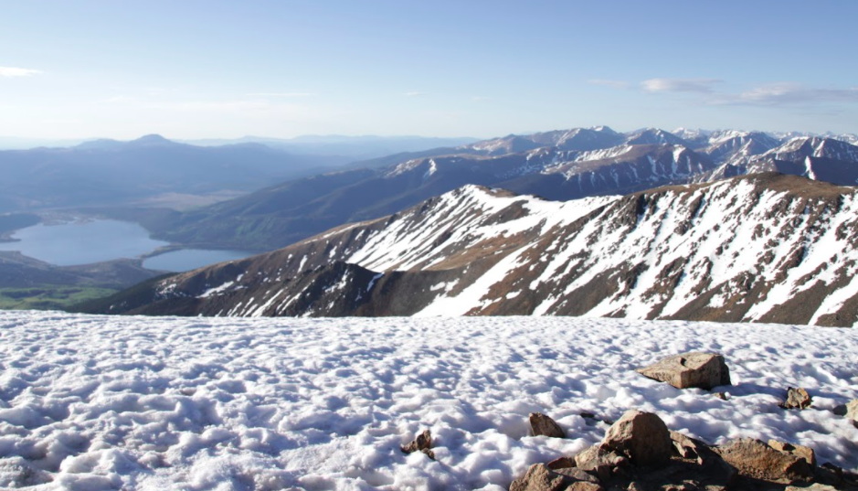 Views of Twin Lakes From Mount Elbert