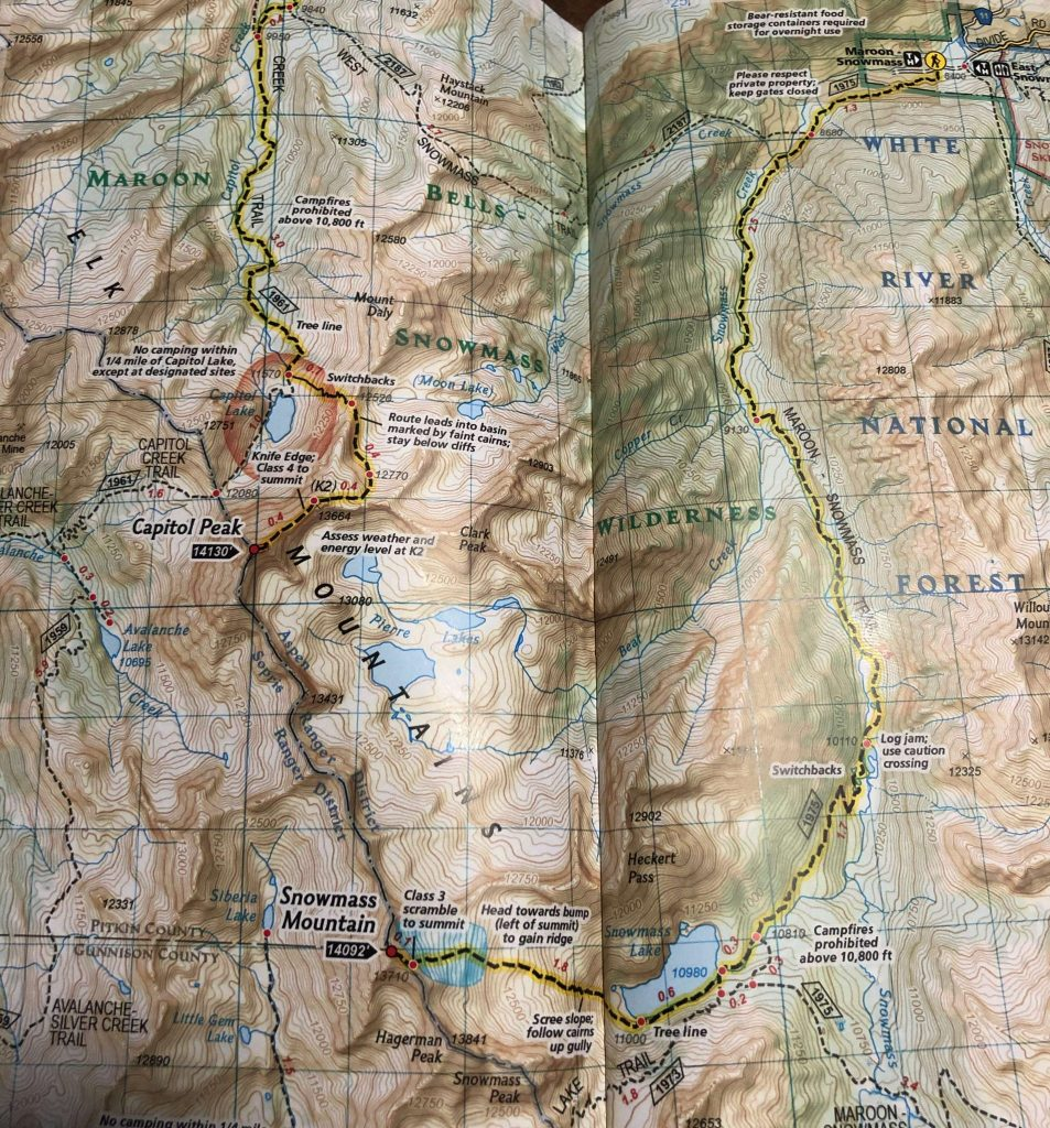 Snowmass Mountain Trail Map