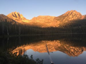 Bench Lake in the Sawtooth Mountains
