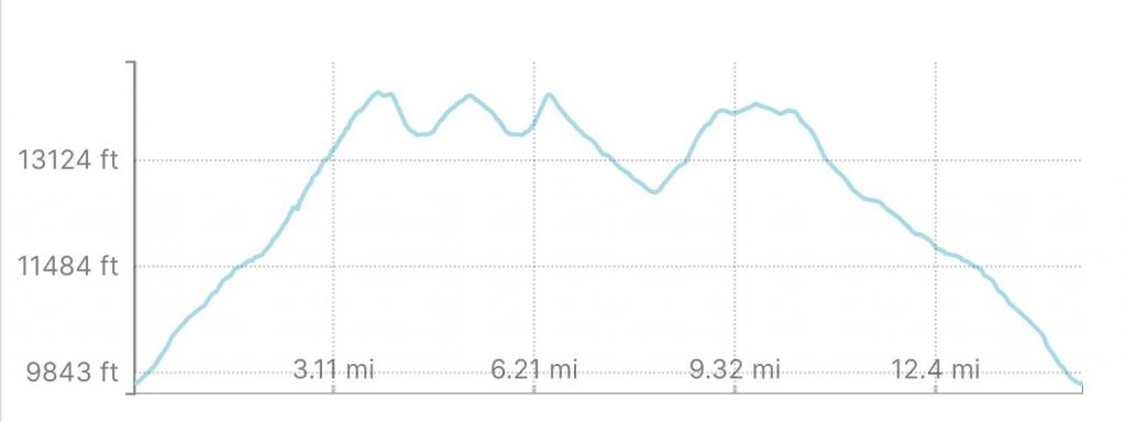 Mount Belford, Oxford & Missouri Mountain Elevation Profile