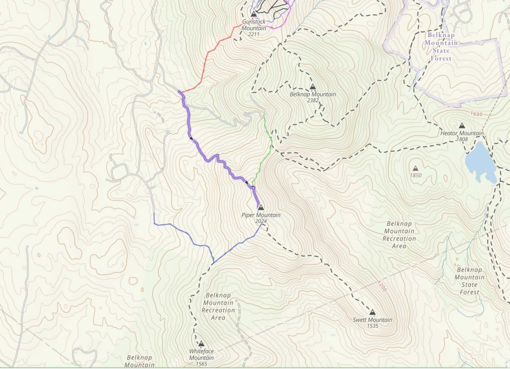 Piper Mountain Trail Map