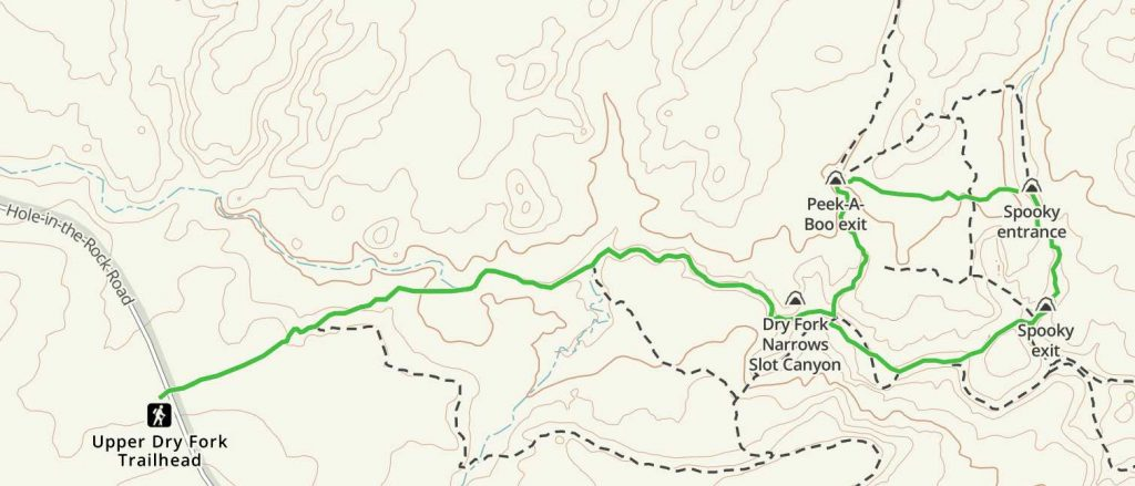 Upper Dry Fork Trailhead Map