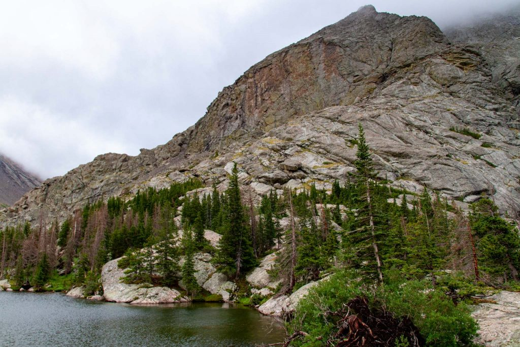 Cliffs over Willow Lake
