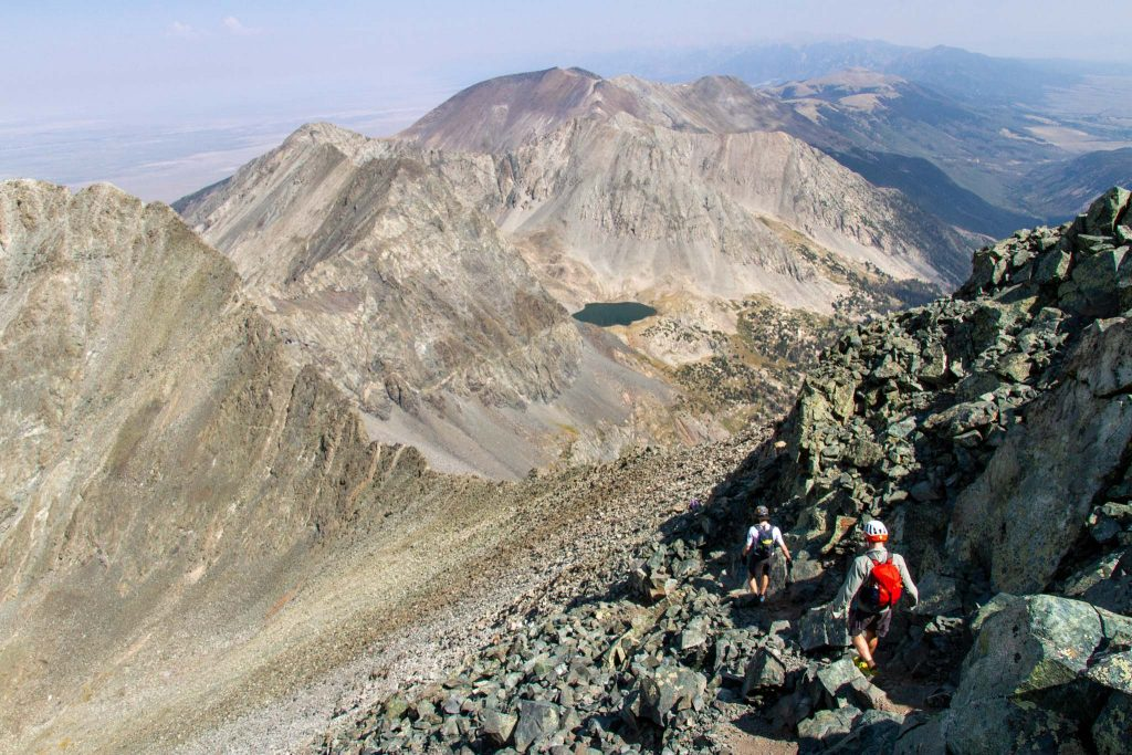 Heading back down from the Blanca Peak