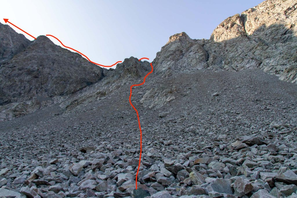 The Route From South Zapata Lake To Ellingwood