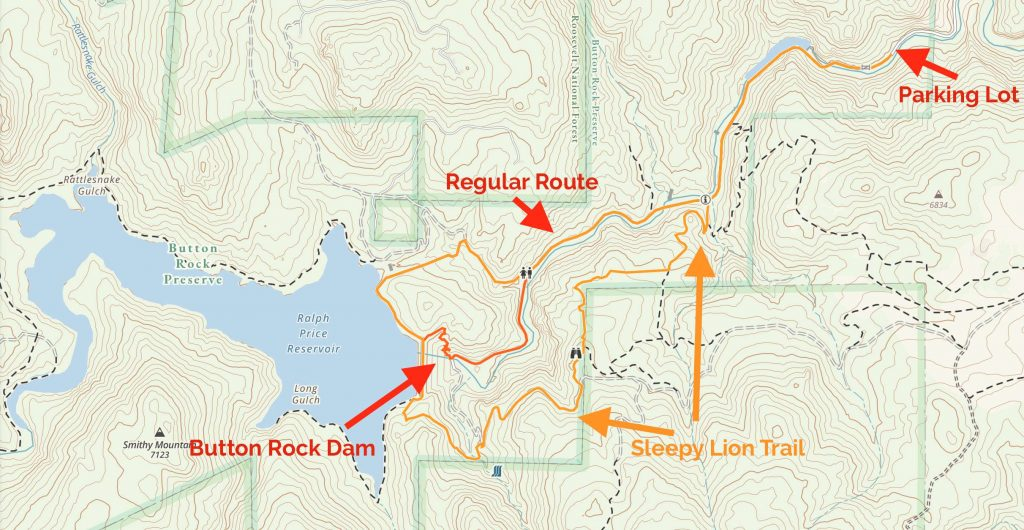 Button Rock Preserve And Sleepy Lion Map