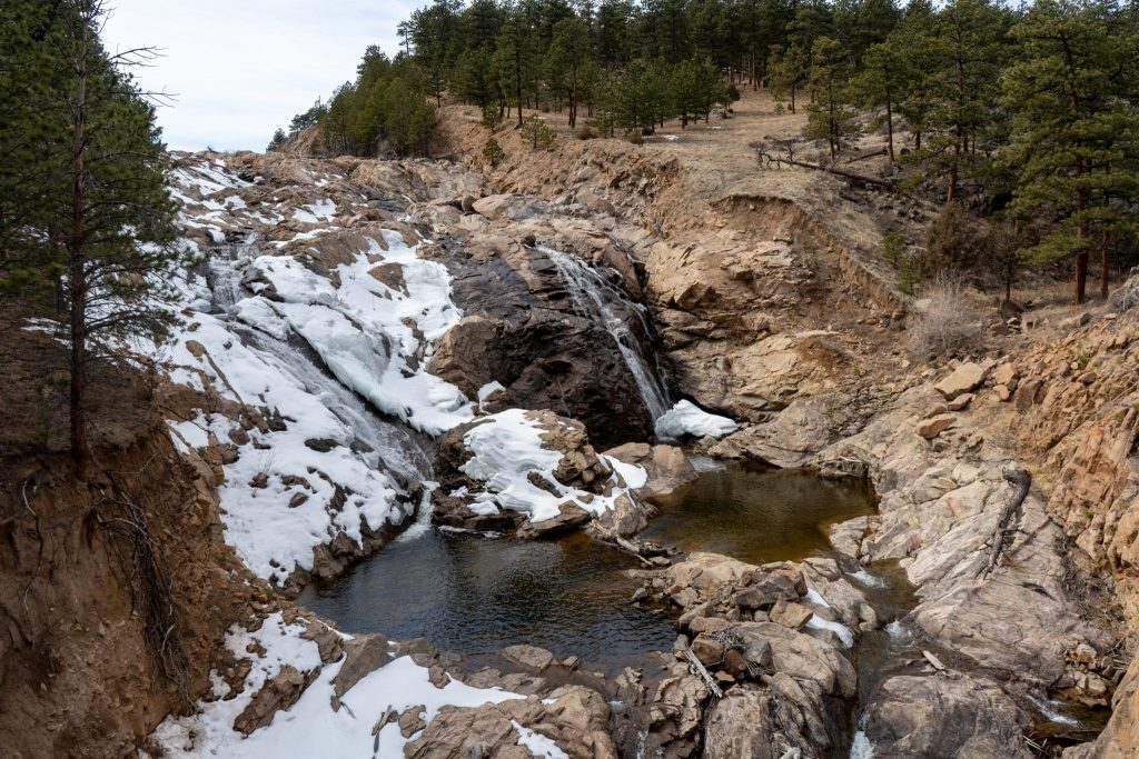 Waterfall out of Ralph Price Reservoir