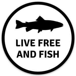 Live Free And Fish Sticker