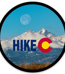 Hike Colorado Sticker With Longs Peak