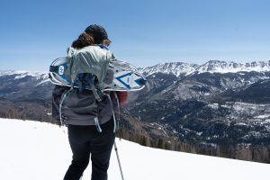 Gossamer Mariposa 60 On Winter Hike With Snowshoes