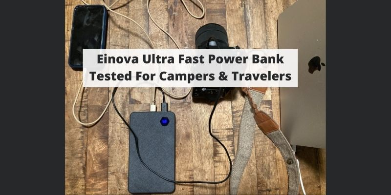 Einova Ultra Fast Power Bank Laptop Power Bank – Tested For Campers & Travelers