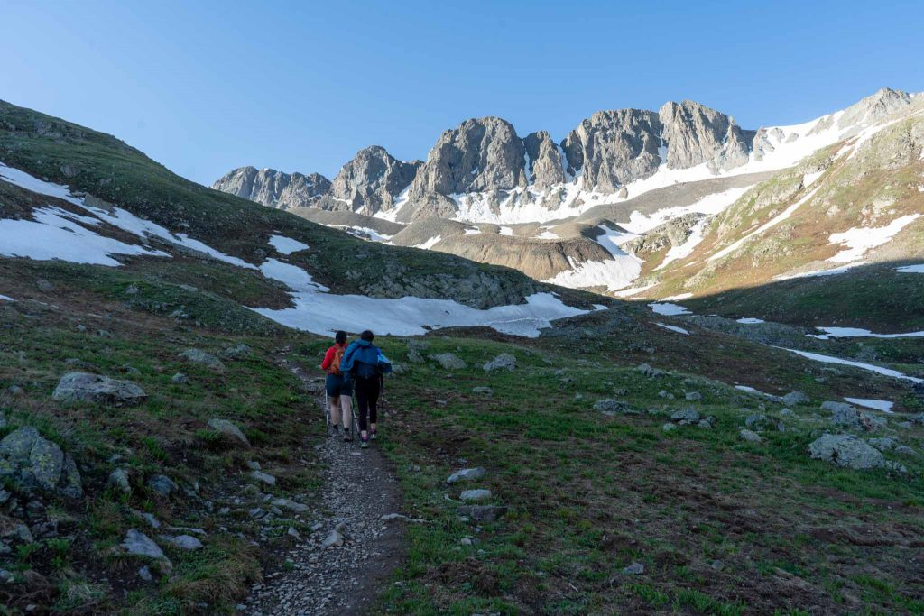 Early trail views in American Basin